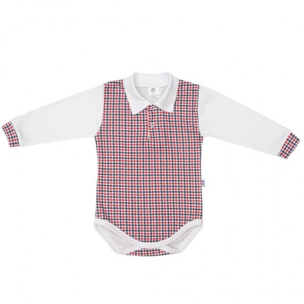 Kojenecké Polo body New Baby Checkered bílé 86 (12-18m)