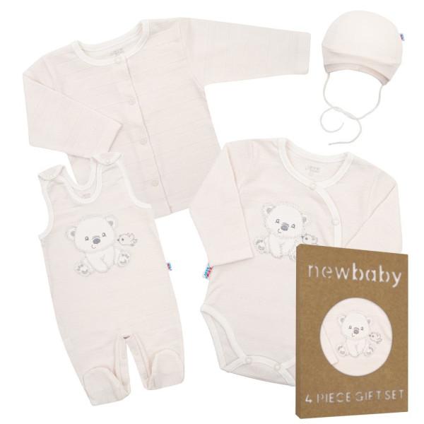 Kojenecká soupravička do porodnice New Baby Sweet Bear béžová 56 (0-3m)
