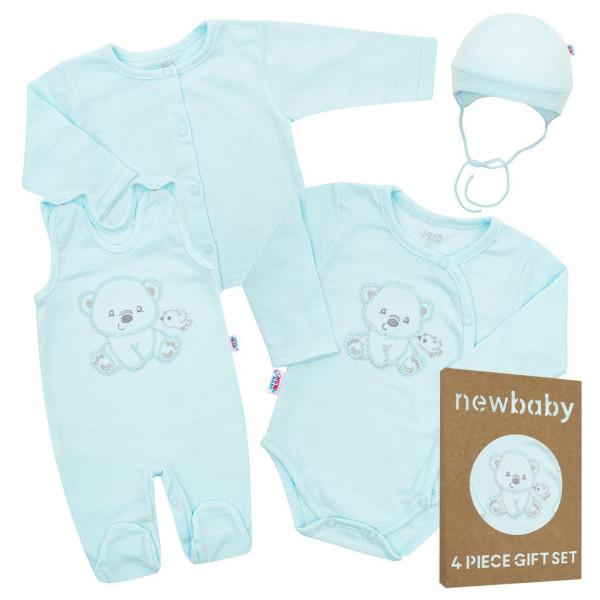 Kojenecká soupravička do porodnice New Baby Sweet Bear modrá 56 (0-3m)