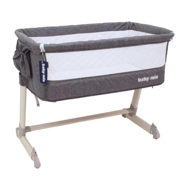 Dětská cestovní postýlka k posteli rodičů Baby Mix Grey