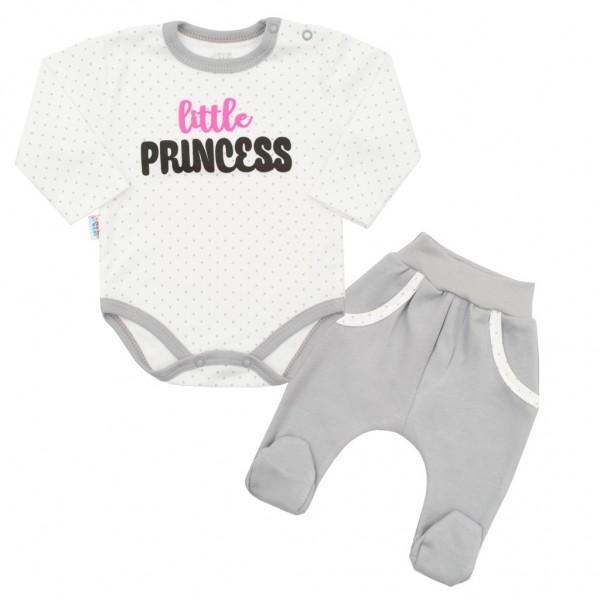2-dílná bavlněná souprava New Baby Little Princess 80 (9-12m)