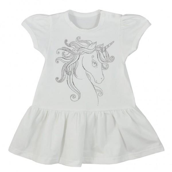 Kojenecké letní šaty Koala Unicorn Summer bílé 68 (4-6m)