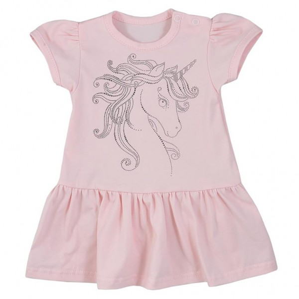 Kojenecké letní šaty Koala Unicorn Summer růžové 68 (4-6m)