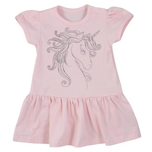 Kojenecké letní šaty Koala Unicorn Summer růžové 74 (6-9m)