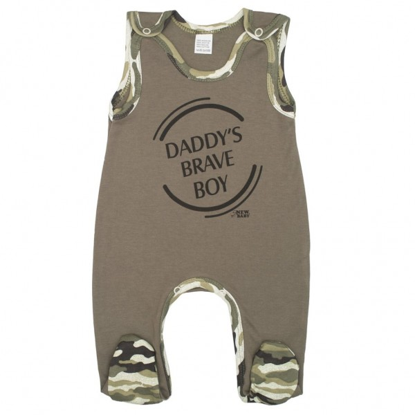 Kojenecké dupačky New Baby Army boy 80 (9-12m)