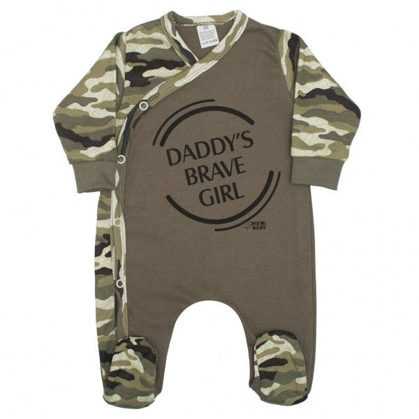 Kojenecký overal New Baby Army girl 56 (0-3m)
