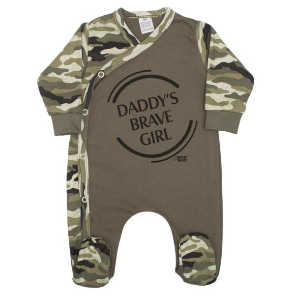 Kojenecký overal New Baby Army girl 80 (9-12m)