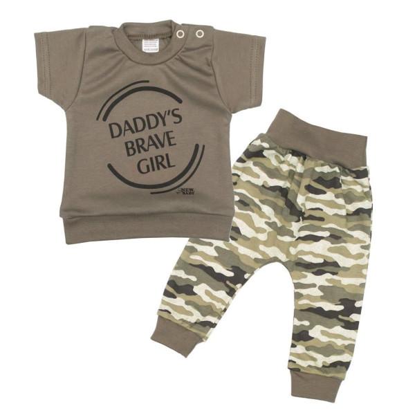2-dílná kojenecká souprava New Baby Army girl 56 (0-3m)