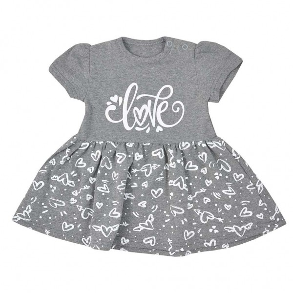 Kojenecké letní šaty Koala Love Summer grey 74 (6-9m)
