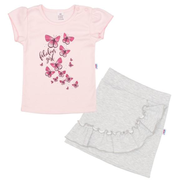 Kojenecké tričko se sukýnkou New Baby Butterflies 74 (6-9m)
