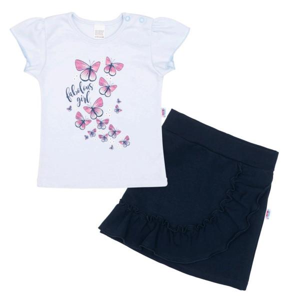 Kojenecké tričko se sukýnkou New Baby Butterflies modrá 80 (9-12m)