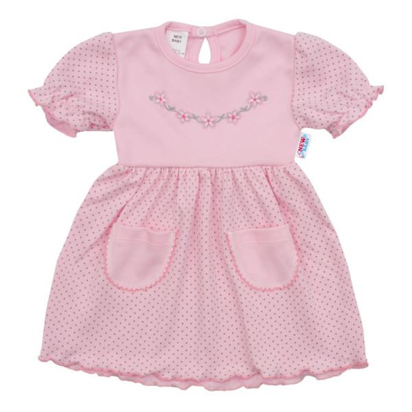 Kojenecké šatičky s krátkým rukávem New Baby Summer dress 80 (9-12m)