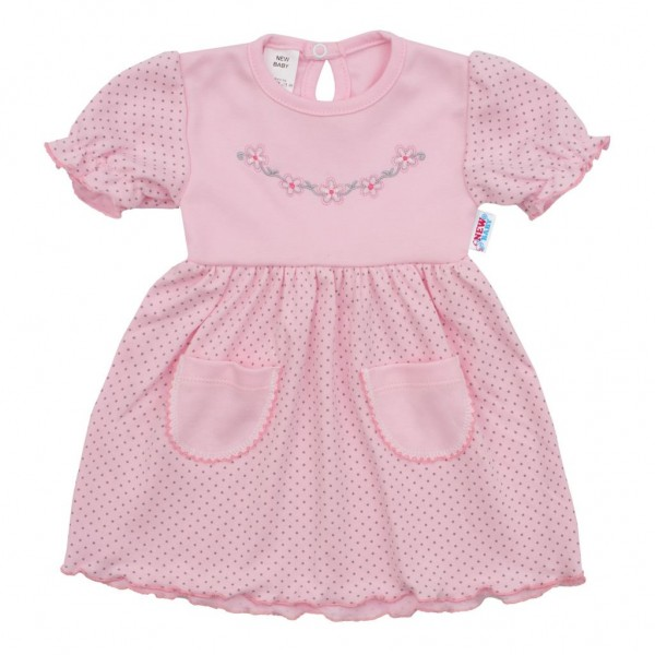 Kojenecké šatičky s krátkým rukávem New Baby Summer dress 86 (12-18m)