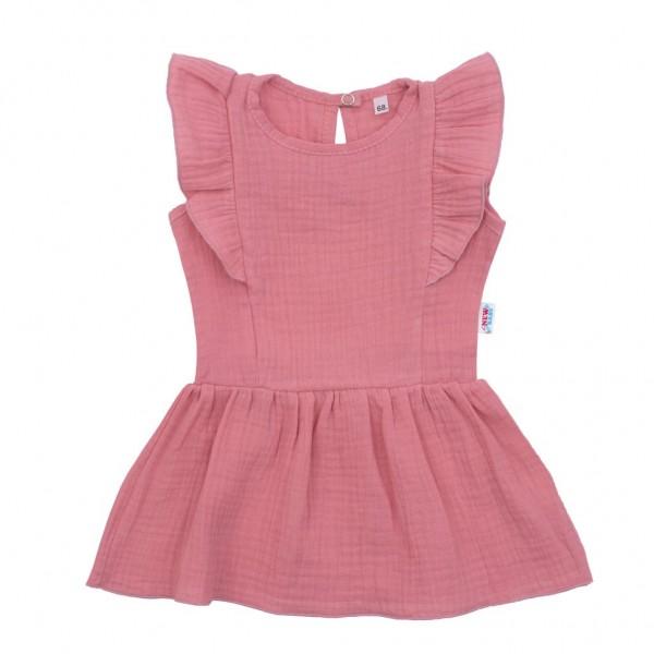 Kojenecké mušelínové šaty New Baby Summer Nature Collection růžové 62 (3-6m)