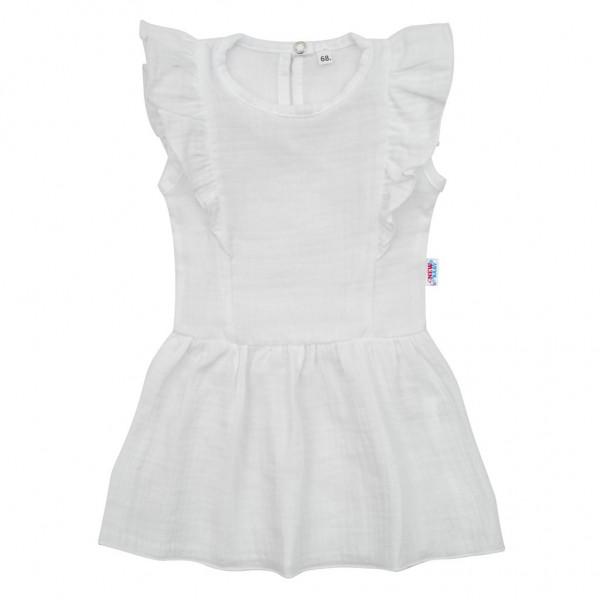 Kojenecké mušelínové šaty New Baby Summer Nature Collection bílé 74 (6-9m)