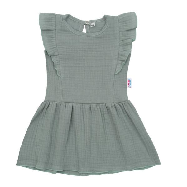 Kojenecké mušelínové šaty New Baby Summer Nature Collection mátové 80 (9-12m)