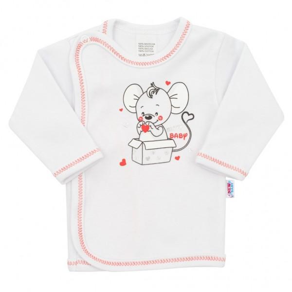 Kojenecká košilka New Baby Mouse bílá 56 (0-3m)