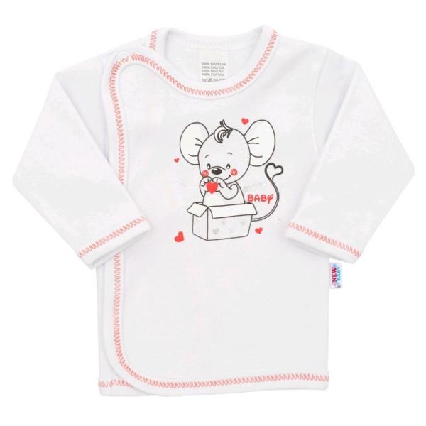 Kojenecká košilka New Baby Mouse bílá 62 (3-6m)