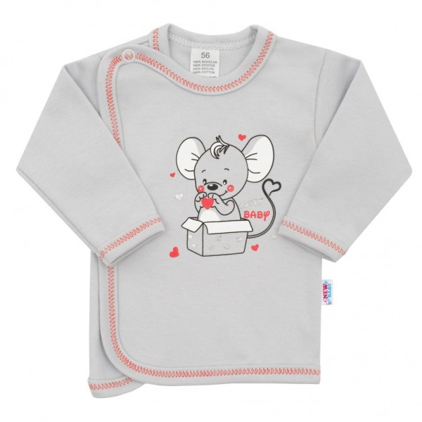 Kojenecká košilka New Baby Mouse šedá 62 (3-6m)