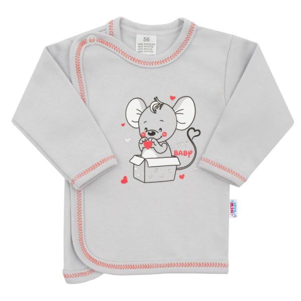 Kojenecká košilka New Baby Mouse šedá 68 (4-6m)
