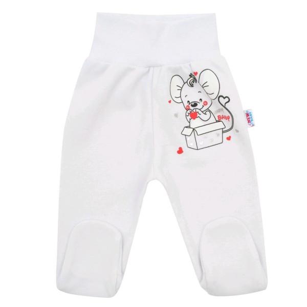 Kojenecké polodupačky New Baby Mouse bílé 68 (4-6m)