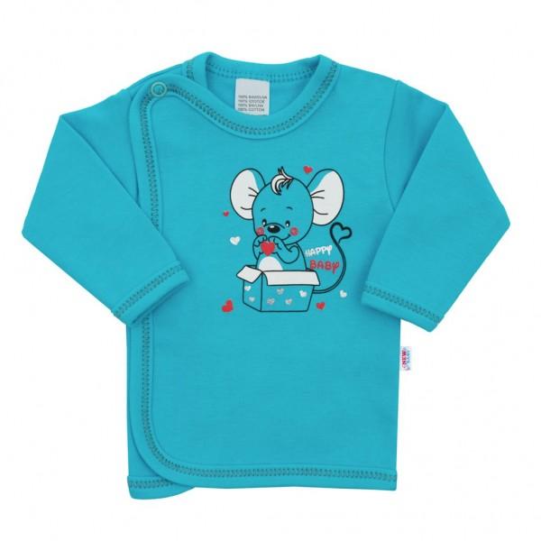 Kojenecká košilka New Baby Mouse tyrkysová 56 (0-3m)