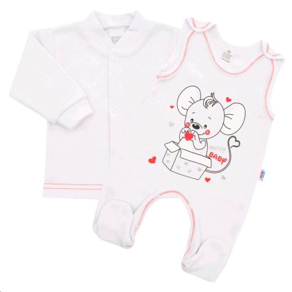 Kojenecká soupravička New Baby Mouse bílá 56 (0-3m)