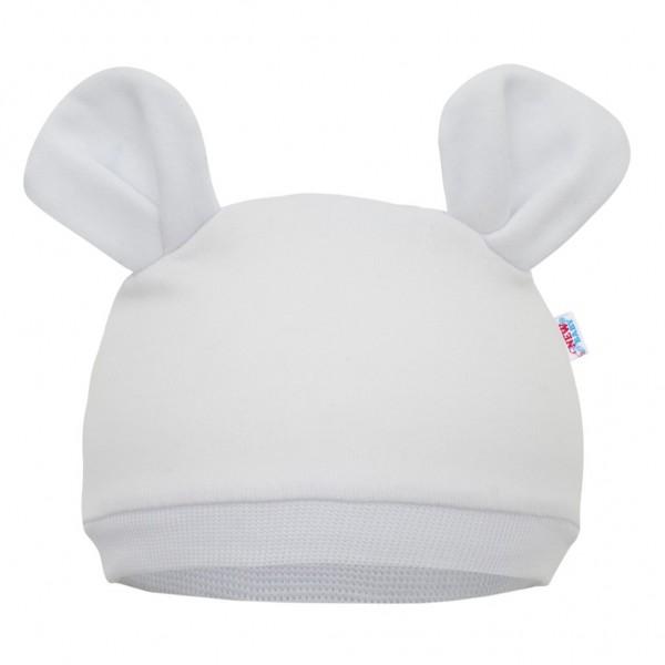 Kojenecká čepička New Baby Mouse bílá 56/62