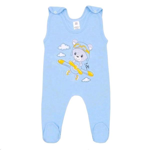 Kojenecké dupačky New Baby Teddy pilot modré 50