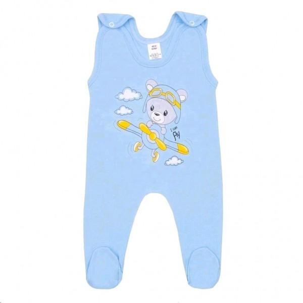 Kojenecké dupačky New Baby Teddy pilot modré 56 (0-3m)