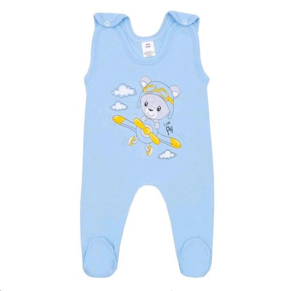 Kojenecké dupačky New Baby Teddy pilot modré 68 (4-6m)
