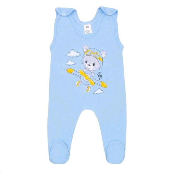 Kojenecké dupačky New Baby Teddy pilot modré 74 (6-9m)