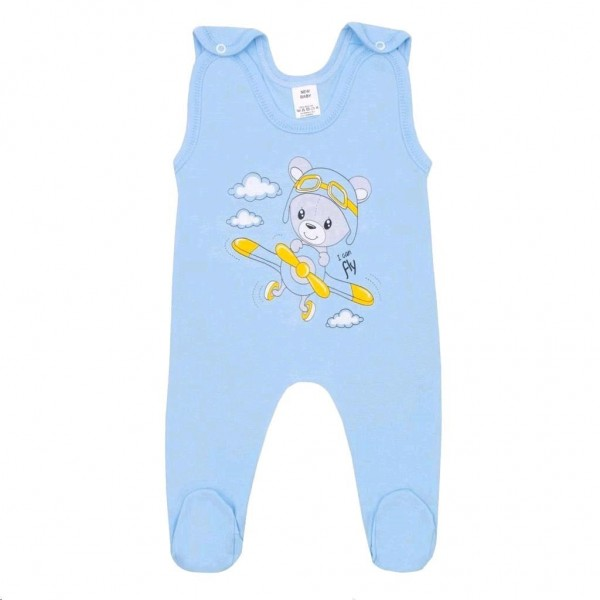 Kojenecké dupačky New Baby Teddy pilot modré 80 (9-12m)