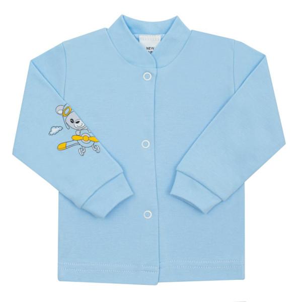 Kojenecký kabátek New Baby Teddy pilot modrý 50