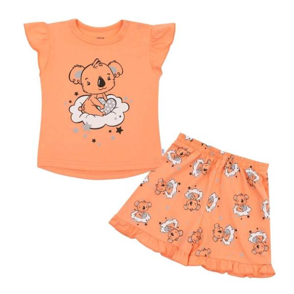 Dětské letní pyžamko New Baby Dream lososové 80 (9-12m)