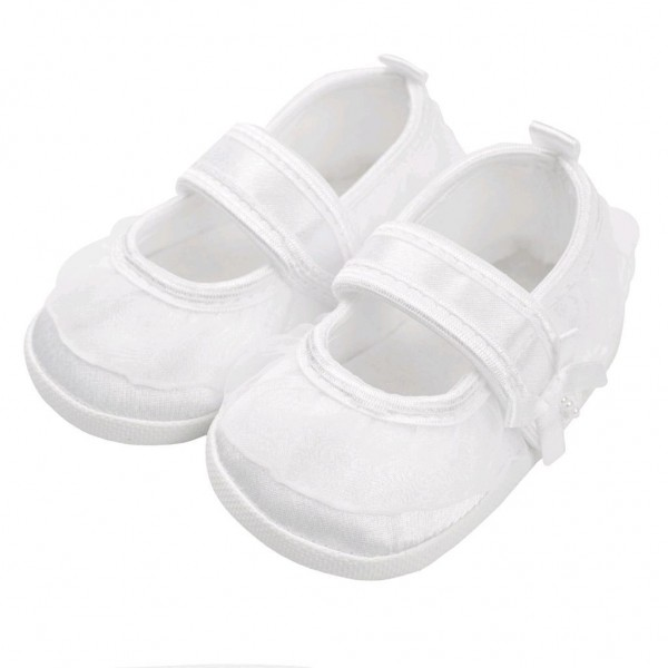 Kojenecké capáčky New Baby saténové bílé 6-12 m 6-12 m