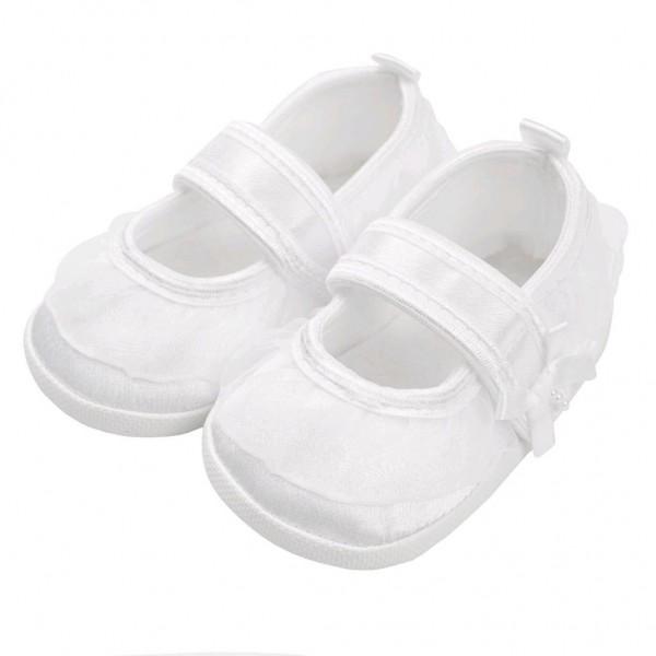 Kojenecké capáčky New Baby saténové bílé 12-18 m 12-18 m