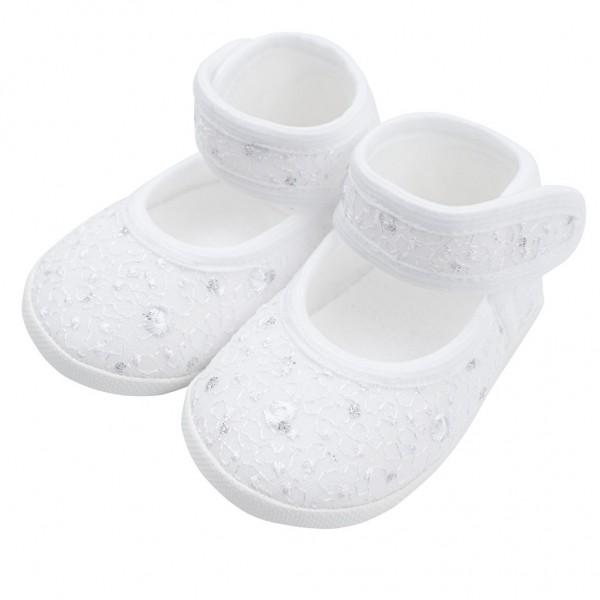 Kojenecké capáčky New Baby stříbrno-bílé 12-18 m 12-18 m