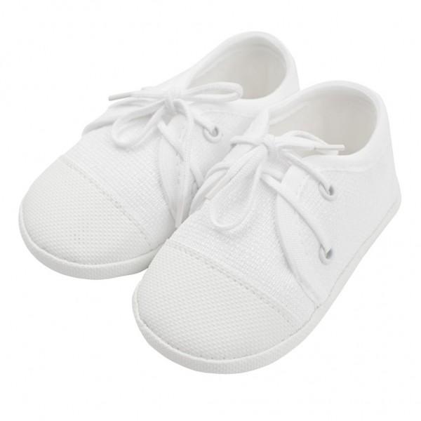 Kojenecké capáčky tenisky New Baby bílé 0-3 m 0-3 m