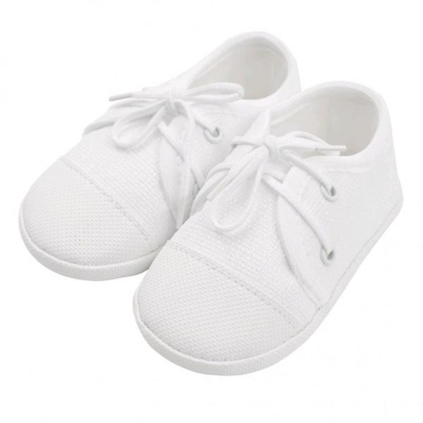 Kojenecké capáčky tenisky New Baby bílé 6-12 m 6-12 m