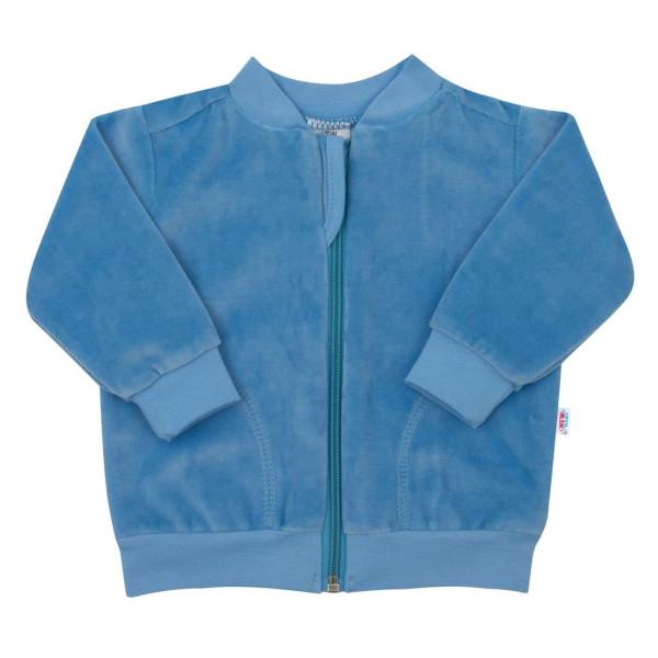 Semišková mikinka New Baby Baby modrá 92 (18-24m)