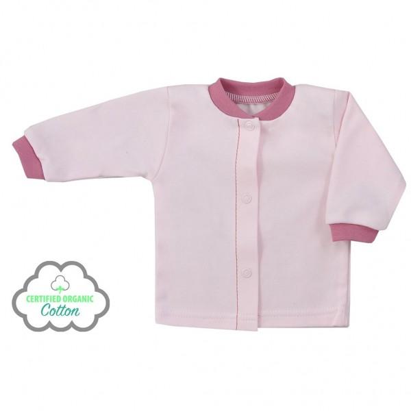 Kojenecký kabátek z organické bavlny Koala Lesní Přítel růžový 56 (0-3m)