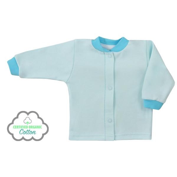 Kojenecký kabátek z organické bavlny Koala Lesní Přítel modrý 68 (4-6m)