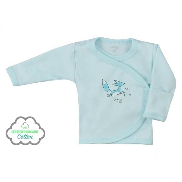 Kojenecká košilka z organické bavlny Koala Lesní Přítel modrá 56 (0-3m)