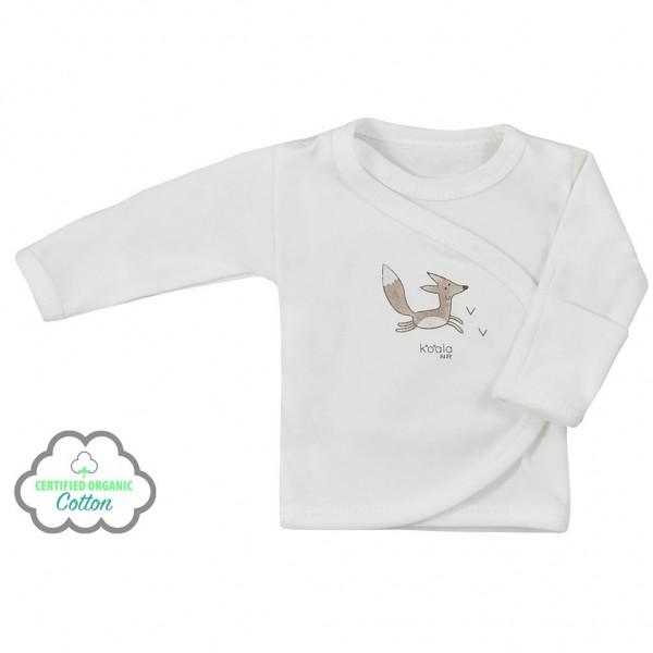 Kojenecká košilka z organické bavlny Koala Lesní Přítel béžová 56 (0-3m)