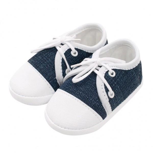 Kojenecké capáčky tenisky New Baby jeans modré 3-6 m 3-6 m