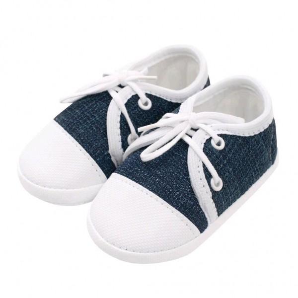 Kojenecké capáčky tenisky New Baby jeans modré 6-12 m 6-12 m