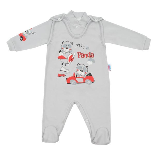2-dílná souprava New Baby Crazy Panda 80 (9-12m)