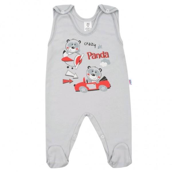 Kojenecké dupačky New Baby Crazy Panda 74 (6-9m)