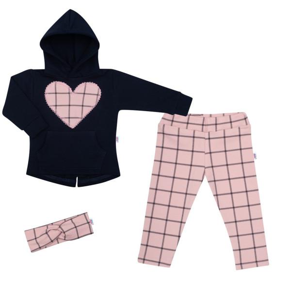 3-dílná holčičí bavlněná souprava New Baby Cool Girls modro-růžová 98 (2-3r)